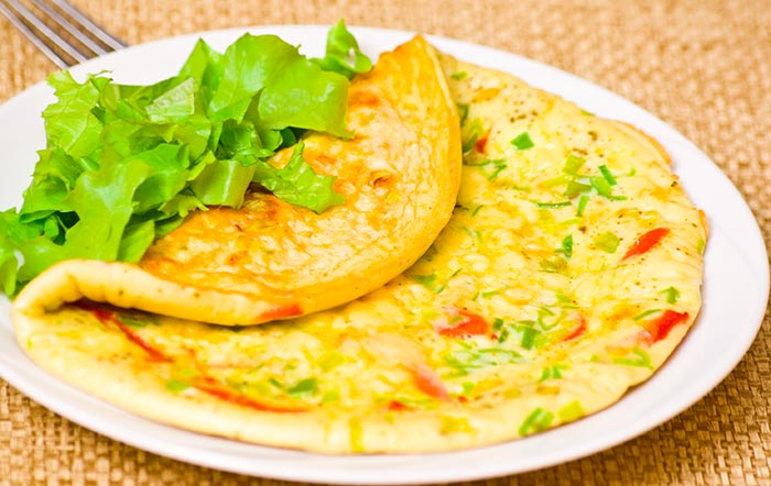Chinese Egg Omelet And Vegetable Recipe