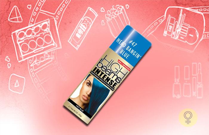 High Beams Intense Temporary Spray-On Hair Color - Headbangin Blue