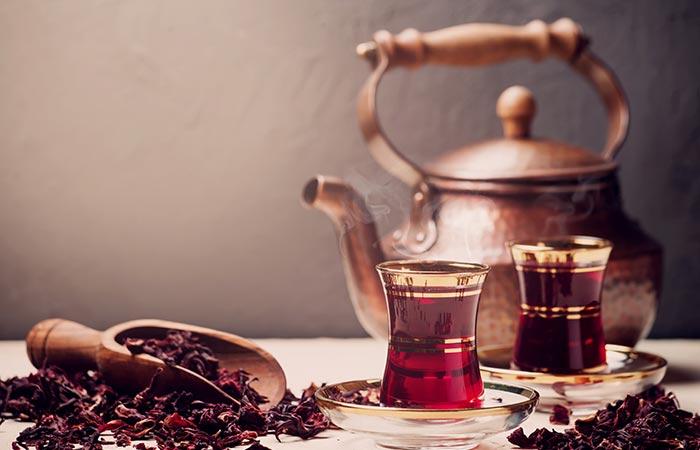 Hot Brew Hibiscus Tea