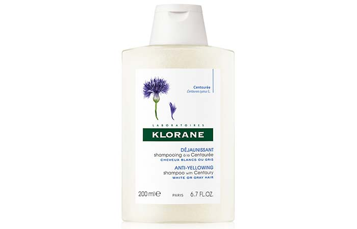 Klorane Anti-Yellowing Shampoo With Centaury- White or Gray Hair