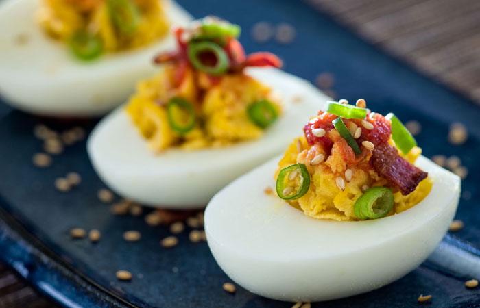 Egg Recipes - Savoury Devilled Eggs