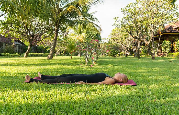 Shavasana - Yoga Routine To De-Stress