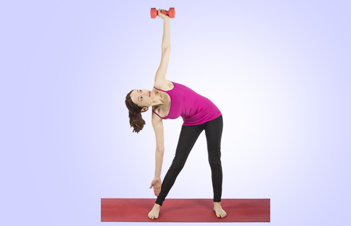 Triangle With Dumbbell Excercise