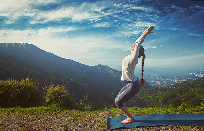 Utkatasana - Yoga Routine To De-Stress