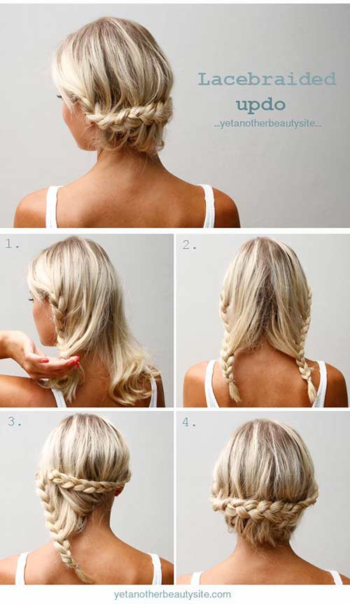 1. Lace Braid Updo