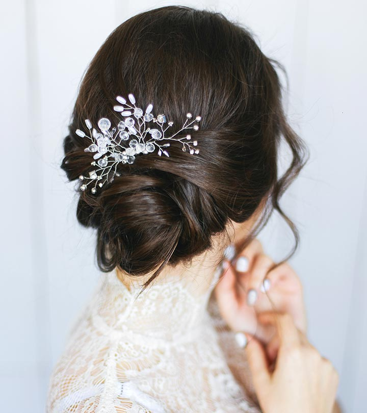 10 gorgeous wedding updos for short hair shutterstock junglespirit Images