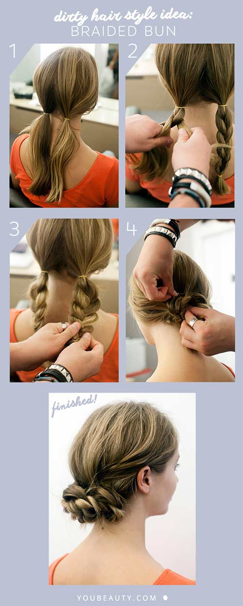 10. The Back Braided Bun