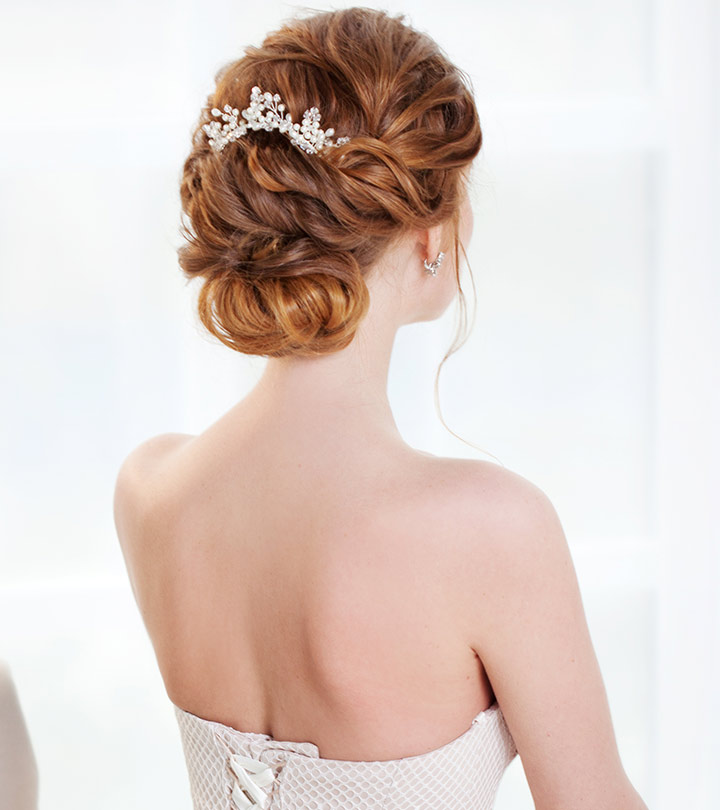 15 bridal updo hairstyles to inspire you shutterstock save 15 bridal updo hairstyles to inspire you anisha pradhan stylecraze junglespirit Choice Image