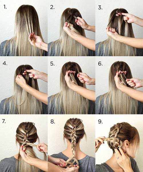 2. The Dutch Braid Bun Updo
