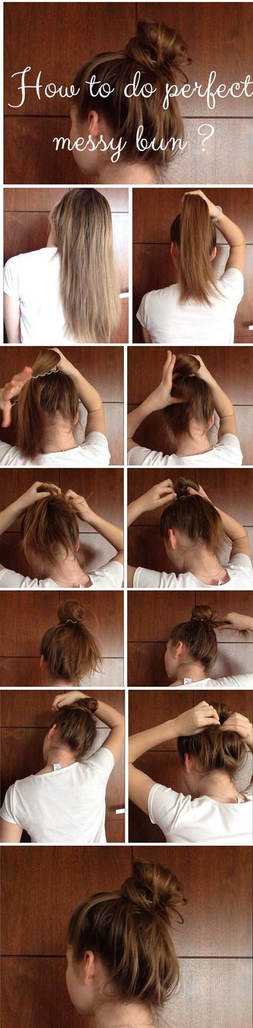 6. The Messy Bun Updo