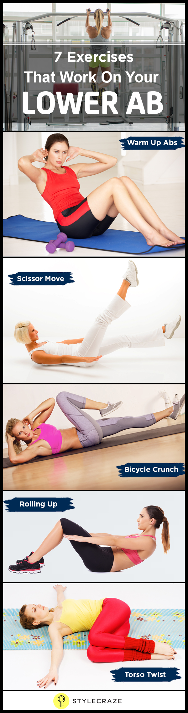 7 Excerises that work on your lower ab www.stylecraze.comarticleseffective-lower-abs-workout-for-women