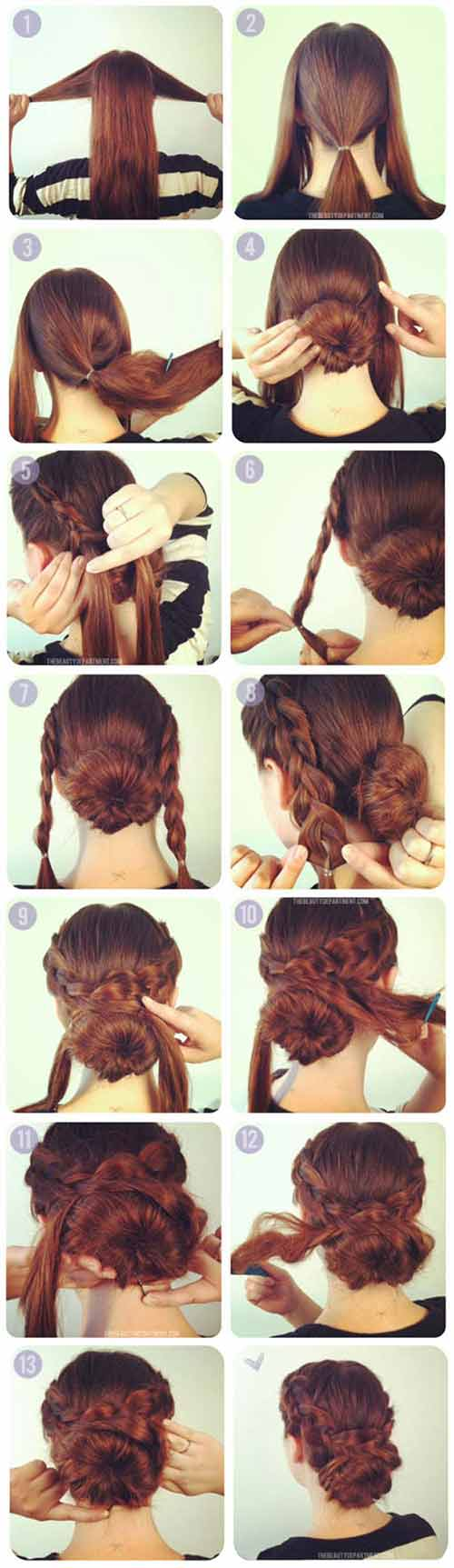 Overlapping Braid Updo