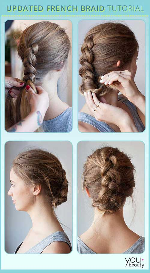 Reverse French Braid Bun