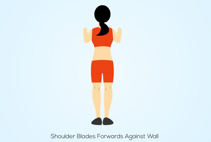 Shoulder Blades Forwards Against Wall