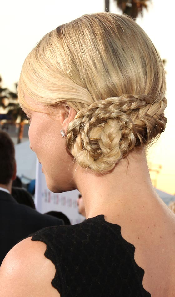 Side-Swept Braided Bun