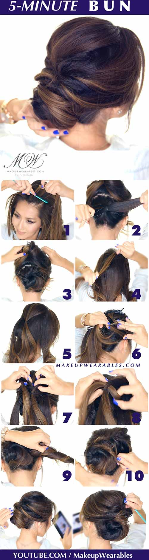 Updo Hairstyles - The 5-Minute Bun