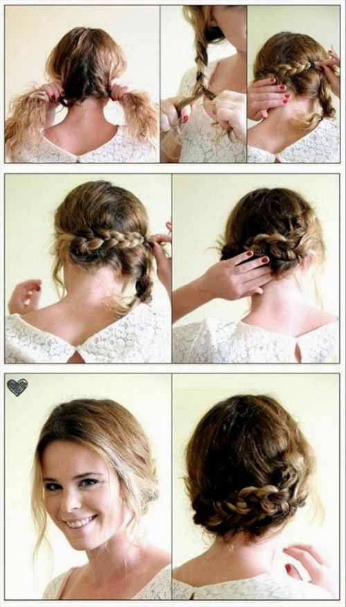 Updo Hairstyles - The Braided Bun