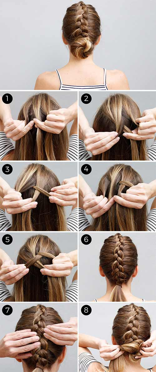 Updo Hairstyles - The Dutch Braid Bun