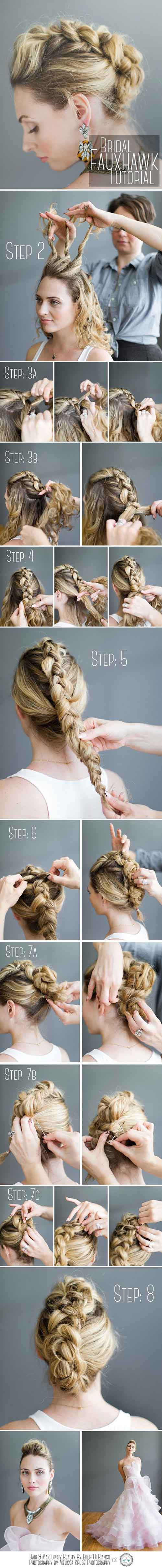 Updo Hairstyles - The Faux Dutch Braid Mohawk