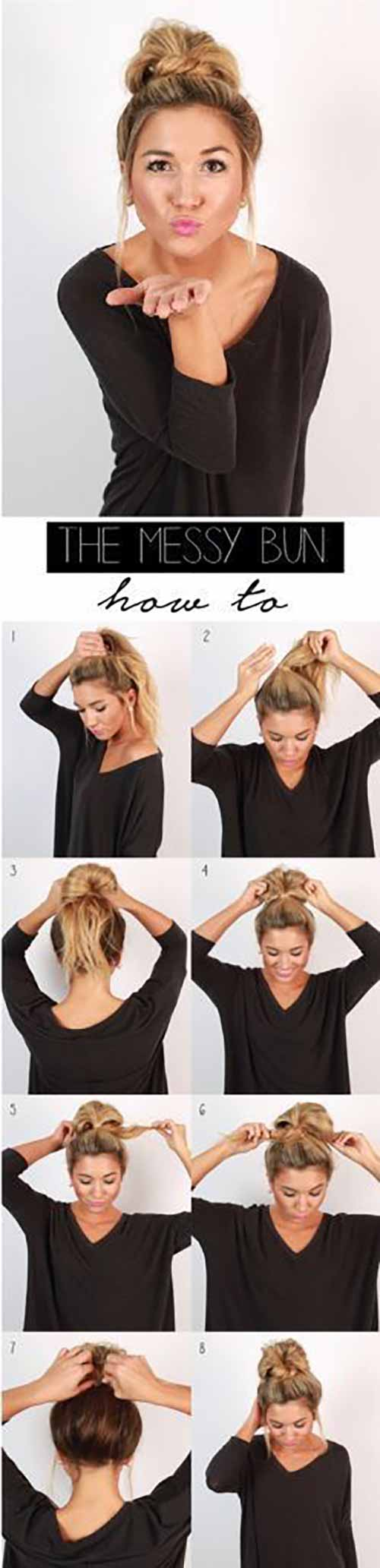 Updo Hairstyles - The Messy Bun