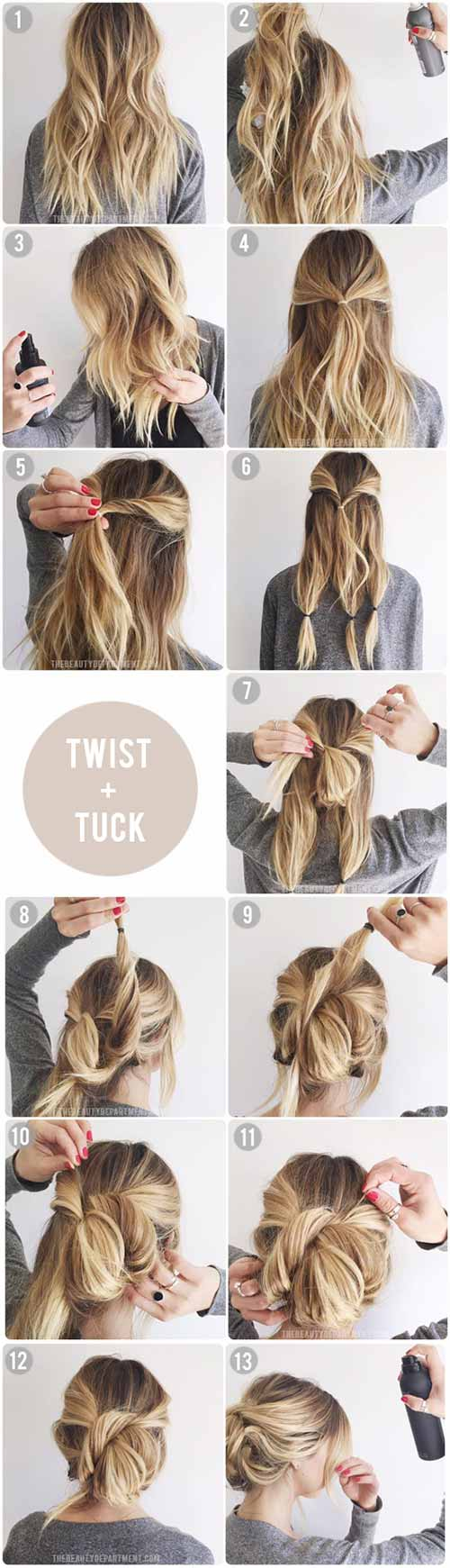 Updo Hairstyles - The Twist And Tuck