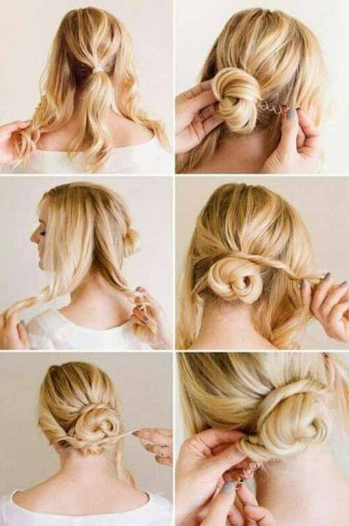 Updo Hairstyles - The Twist And Wrap