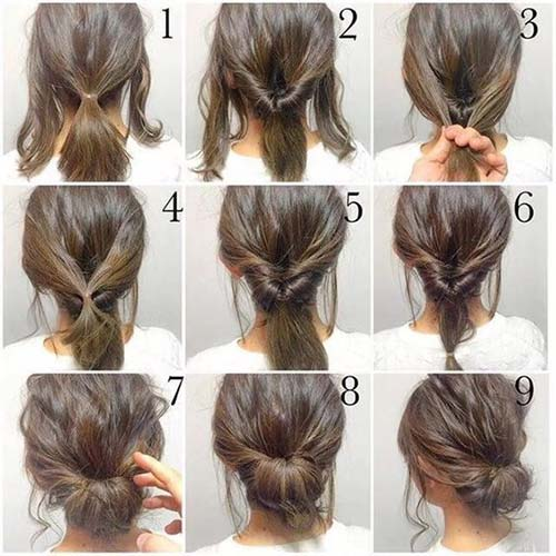 Updo Hairstyles - The Twist-In Bun