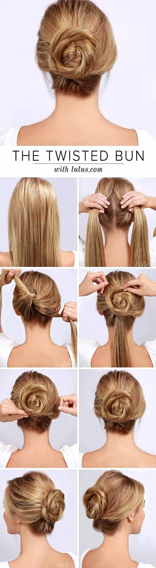 Updo Hairstyles - The Twisted Bun