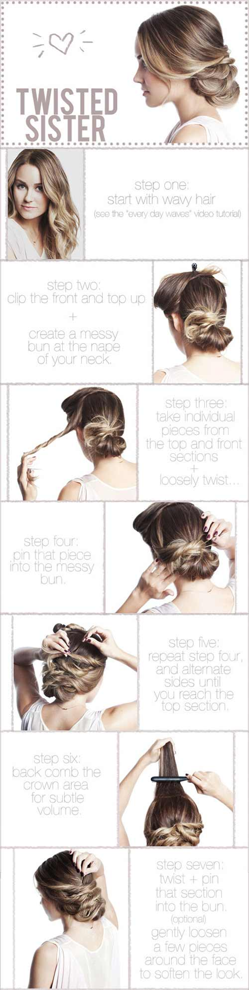 Updo Hairstyles - The Twisted Sister