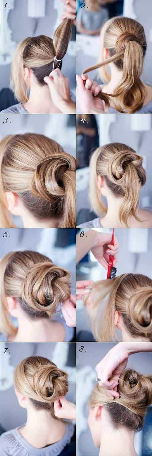 Updo Hairstyles - The Wrap Bun
