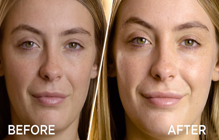 How To Apply Makeup Primer - Before And After Applying Primer