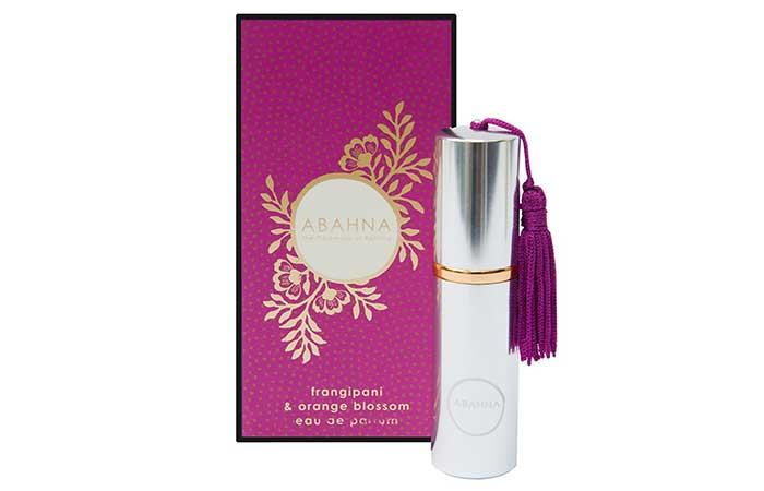 Best Natural Perfumes - 1. Abahna Frangipani And Orange Blossom