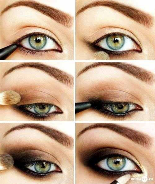 Makeup For Green Eyes - The Classy Bronze-Gold Smoky Cat Eye