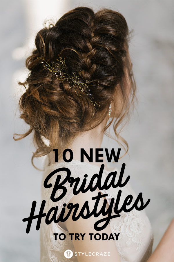 Peachy 10 New Bridal Hairstyles To Try Today Natural Hairstyles Runnerswayorg