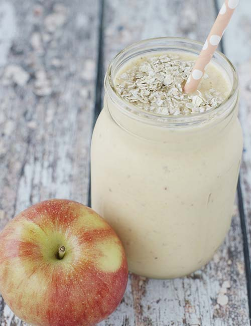 Best Protein Shake Recipes - Oatmeal-Apple Protein Shake (Protein – 21.48 g)