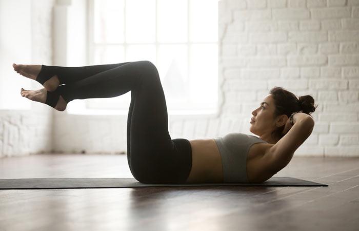 12.Leg Up Crunches