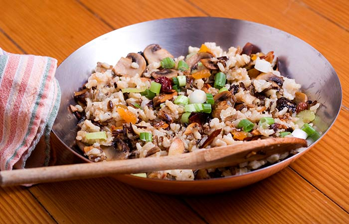 Brown Rice Recipes - Mushroom Brown Rice