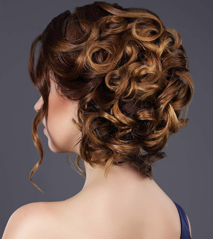 2715b46508 20 Incredibly Stunning DIY Updos For Curly Hair