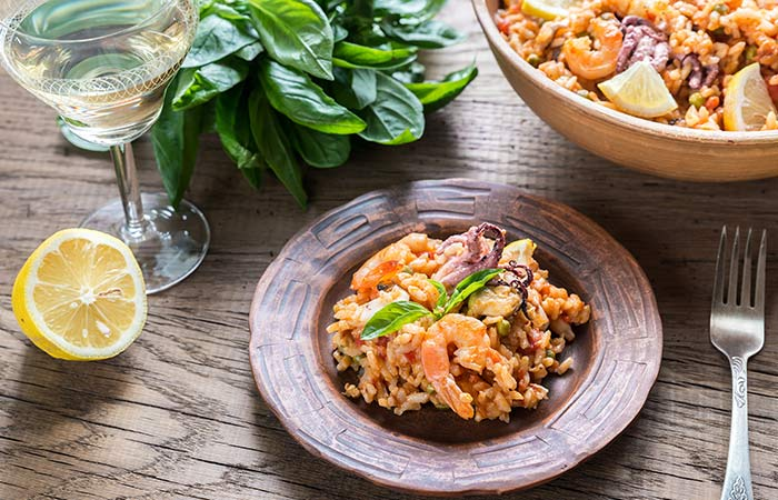 Brown Rice Recipes - Shrimp Brown Rice Risotto