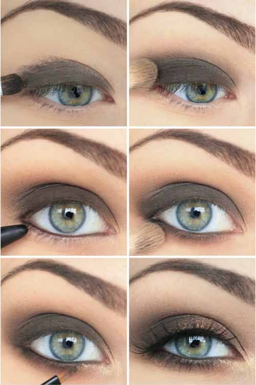Makeup For Green Eyes - The Sultry Grey-Green Look