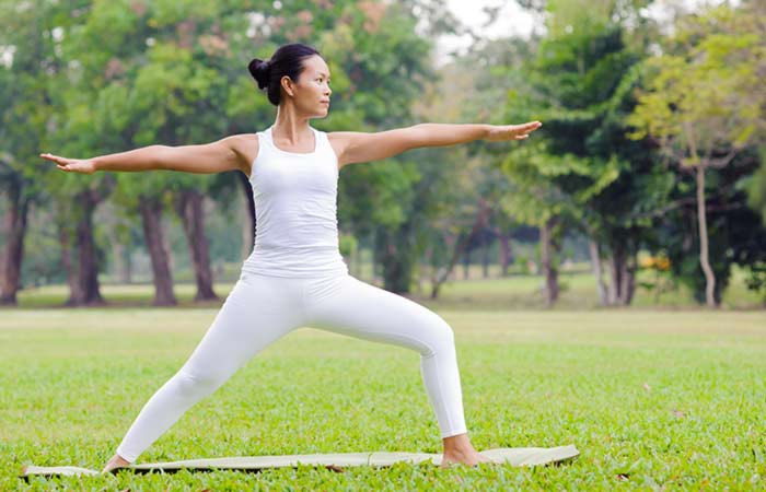 Virabhadrasana-II -  Yoga Asana To Treat Acid Reflux