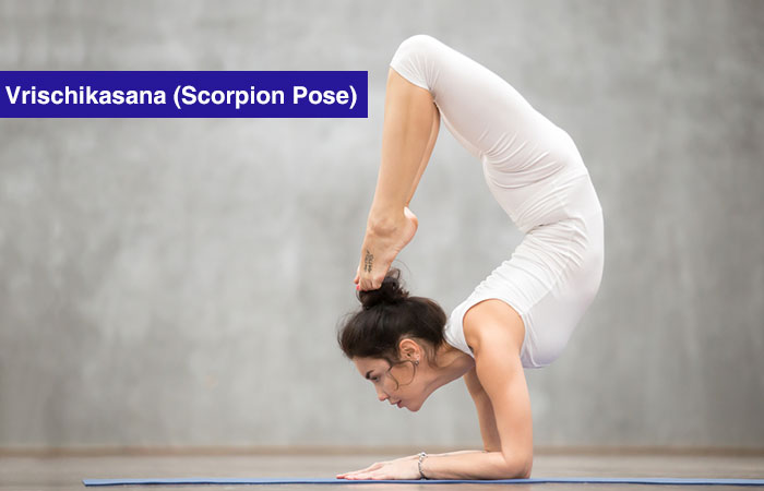 3. Vrischikasana (Scorpion Pose)