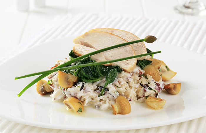 Brown Rice Recipes - Healthy Spinach & Chicken Brown Rice