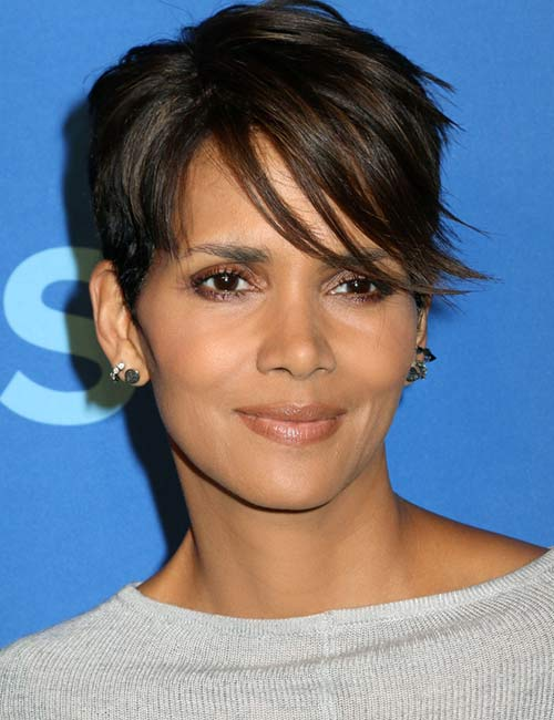 4. Sleek Side Bangs With A Pixie Cut