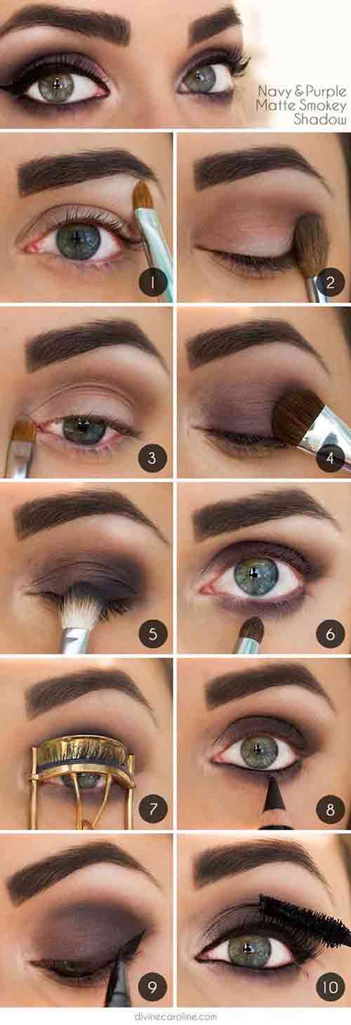 Eye makeup for mature green eyes