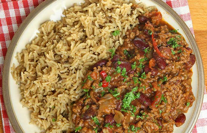Brown Rice Recipes - Vegan Brown Rice With Kidney Beans