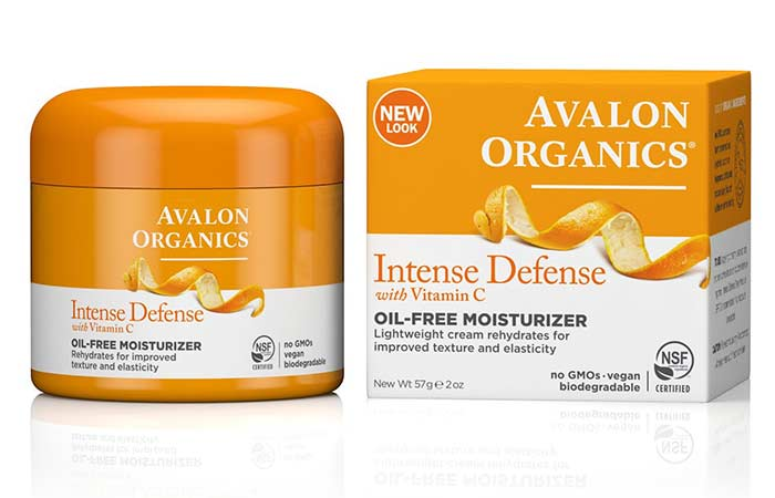 Best Oil-Free Moisturizers - Avalon Organics Intense Defence Oil Free Moisturizer