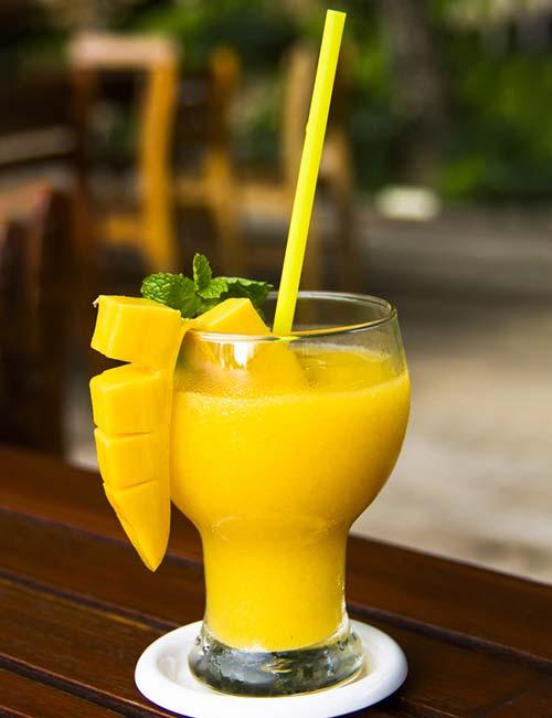 Best Protein Shake Recipes - Alphonso Mango-Almond Milk Protein Shake (Protein – 14.84 g)