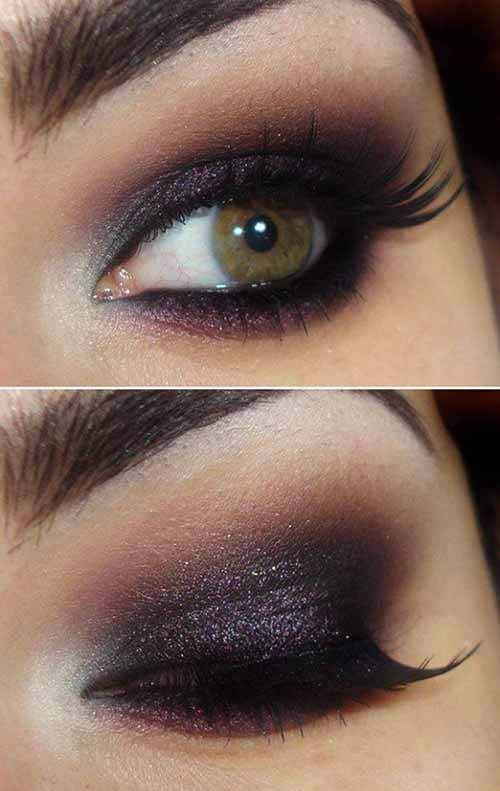 Makeup For Green Eyes - The Festive Plum Look