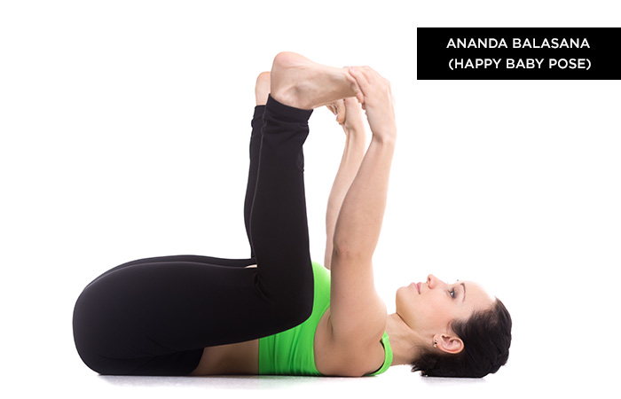 Ananda-Balasana (Happy Baby Pose) -Yoga Poses For Irritable Bowel Syndrome